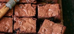 Brownie de chocolate al bourbon